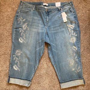 Lane Bryant Girlfriend crop jeans